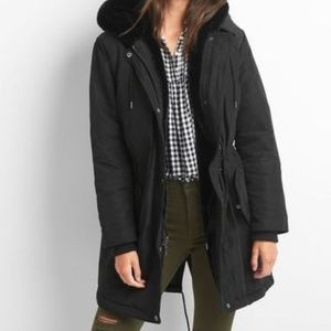 Gap PrimaLoft Coat Parka Black Small